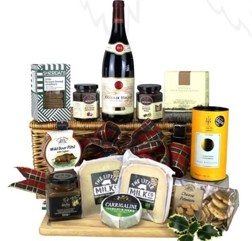 Irish Christmas Cheese Wine Hamper