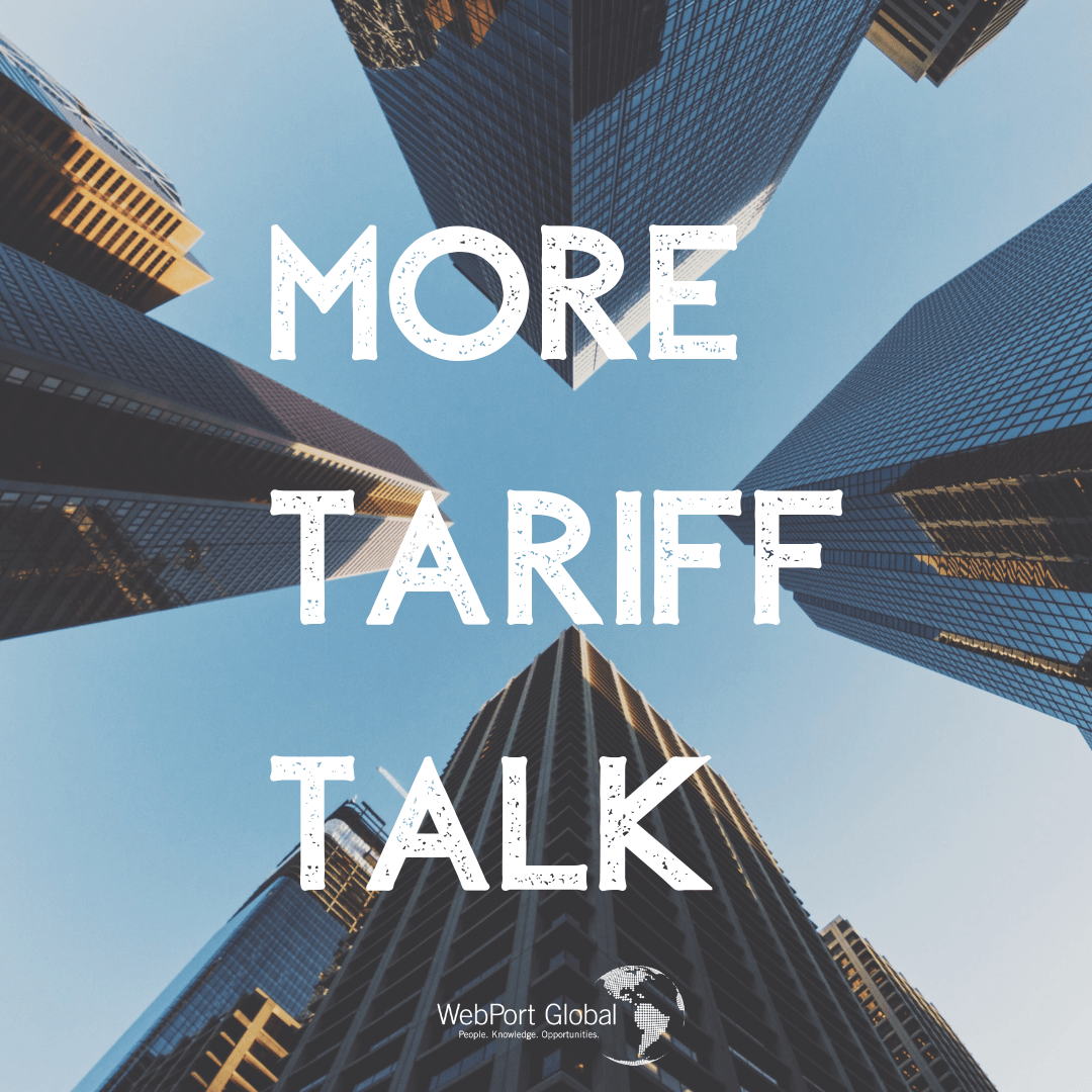 More Tariff Talk